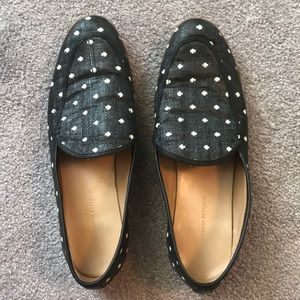 Banana Republic polka dot loafers